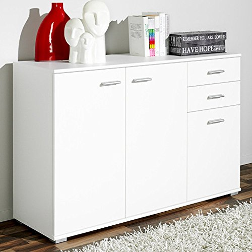 highboard mit schiebet ren. Black Bedroom Furniture Sets. Home Design Ideas